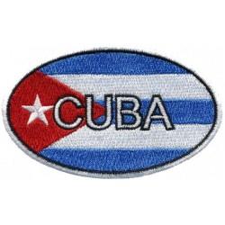 Parche ovalado bandera Cuba