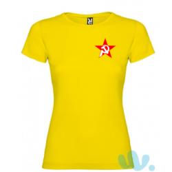 Camiseta mujer escudo hoz y...